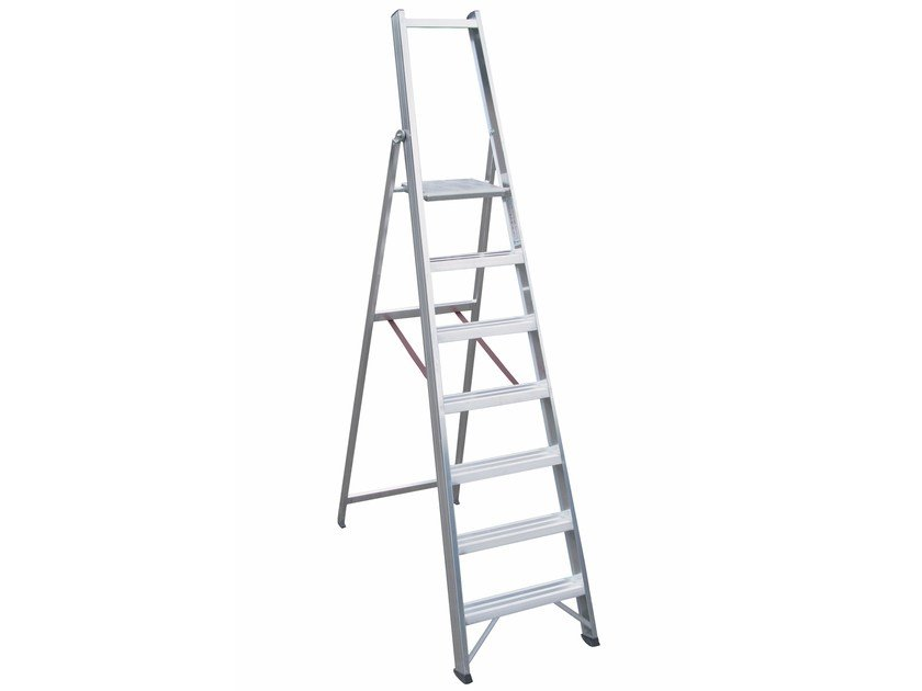 Aluminium heavy duty ladder 6026 L by Frigerio Carpenterie