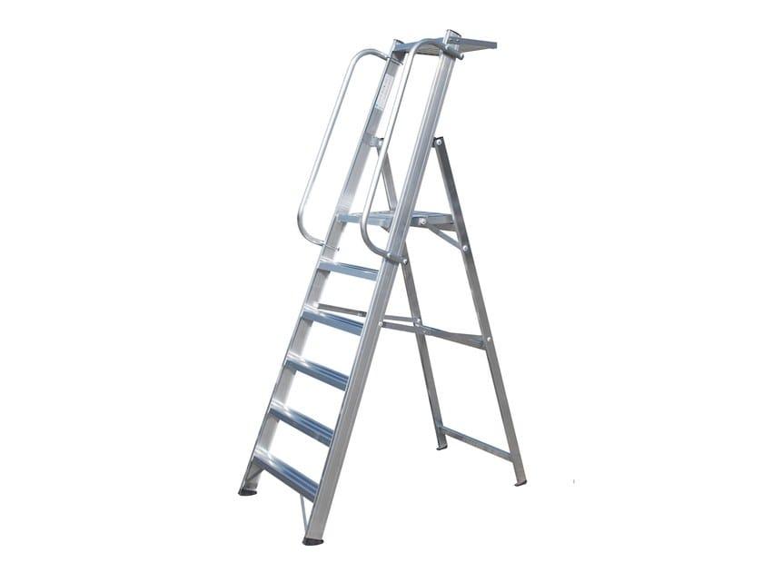 Aluminium heavy duty ladder 6046 by Frigerio Carpenterie