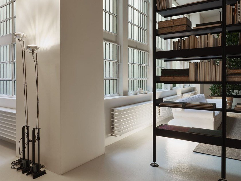 Sectional extruded aluminum bookcase 606 UNIVERSAL SHELVING SYSTEM ...