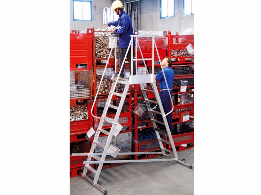 Aluminium heavy duty ladder 6088 - 6088 P by Frigerio Carpenterie