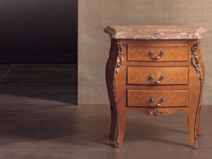 Rectangular wooden bedside table with drawers 61 | Bedside table by Rozzoni