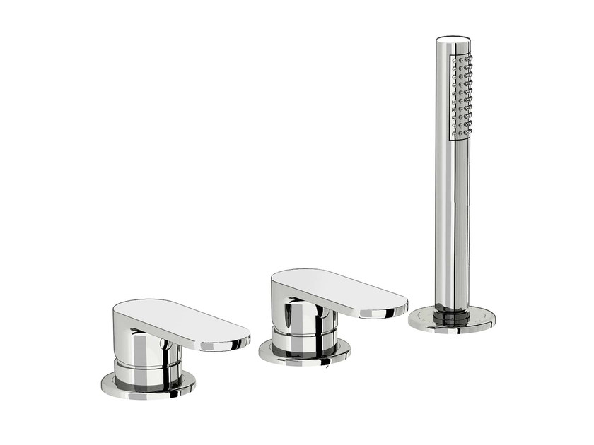 3 hole bathtub set with hand shower SMILE 64 - 6431504 by Fir Italia