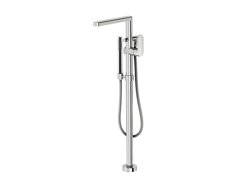 Floor standing bathtub mixer with hand shower SMILE 64 - 6433008 by Fir Italia