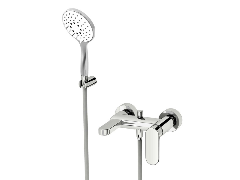 Bathtub mixer with hand shower SMILE 64 - 6434006 by Fir Italia