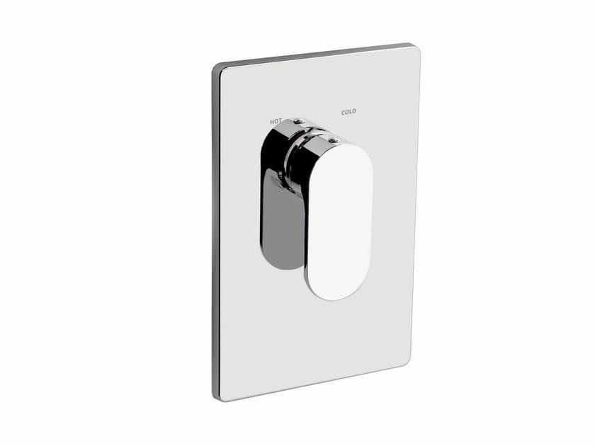 Miscelatore per doccia in ottone cromato con piastra SMILE 64 - 6450158 by Fir Italia