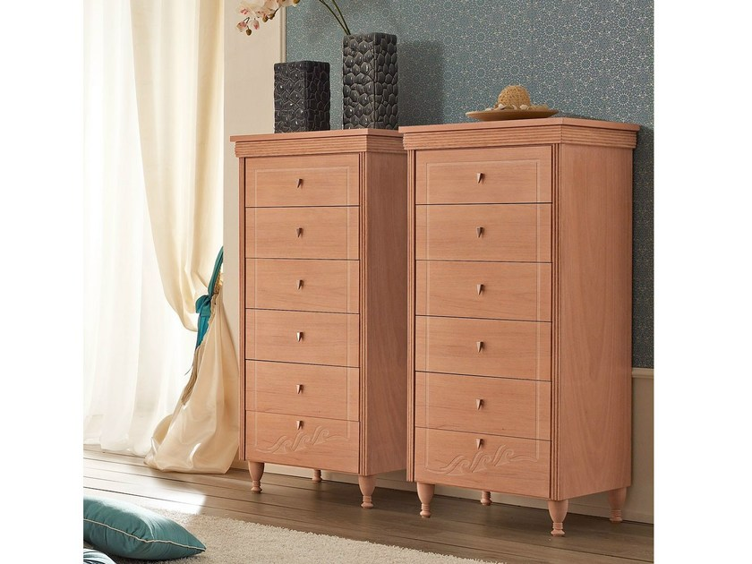 Navy wooden chest of drawers 659 | ONDA by Caroti
