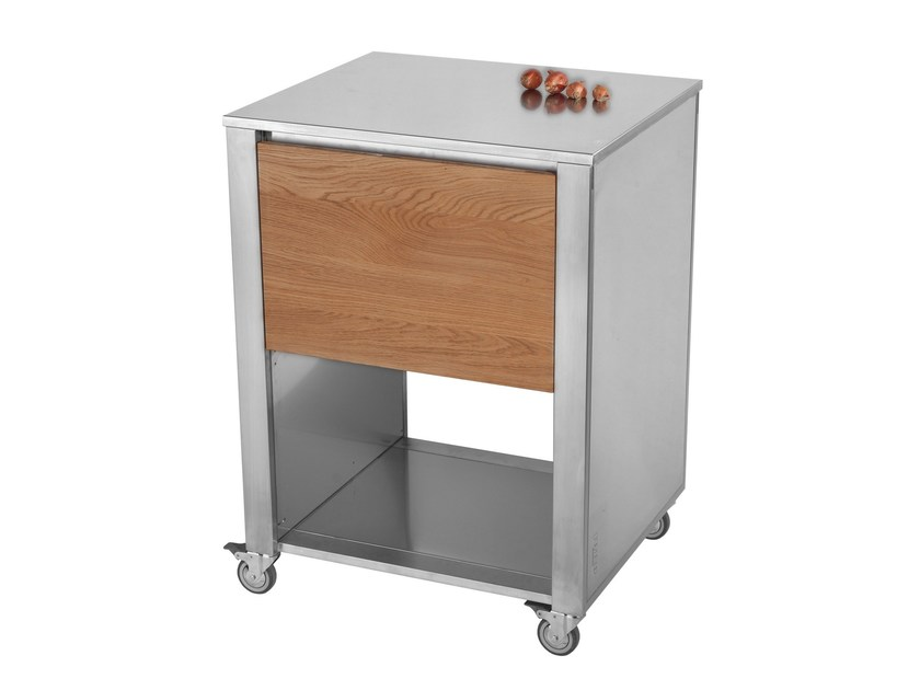 Stainless steel and wood kitchen unit with drawers 679112 | Kitchen unit by JOKODOMUS