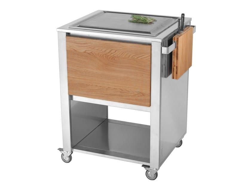 Kitchen cart with teppanyaki griddle 679192   Kitchen unit by JOKODOMUS