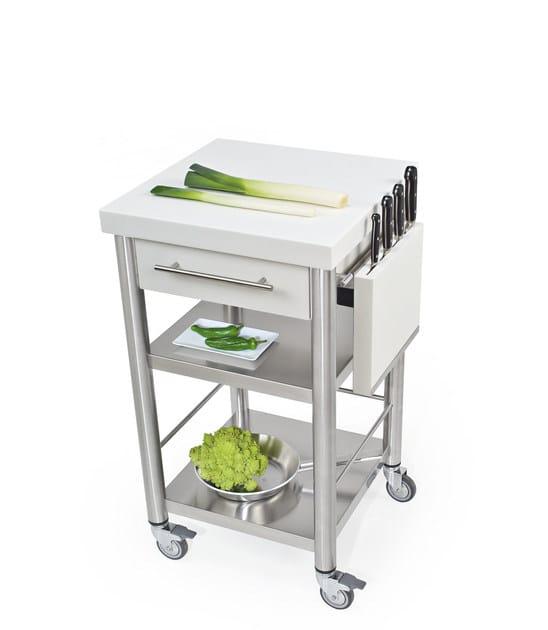 Cucina Inox Maniglie Acciaio Jokodomus 690702Modulo Freestanding Con In k8O0wnP