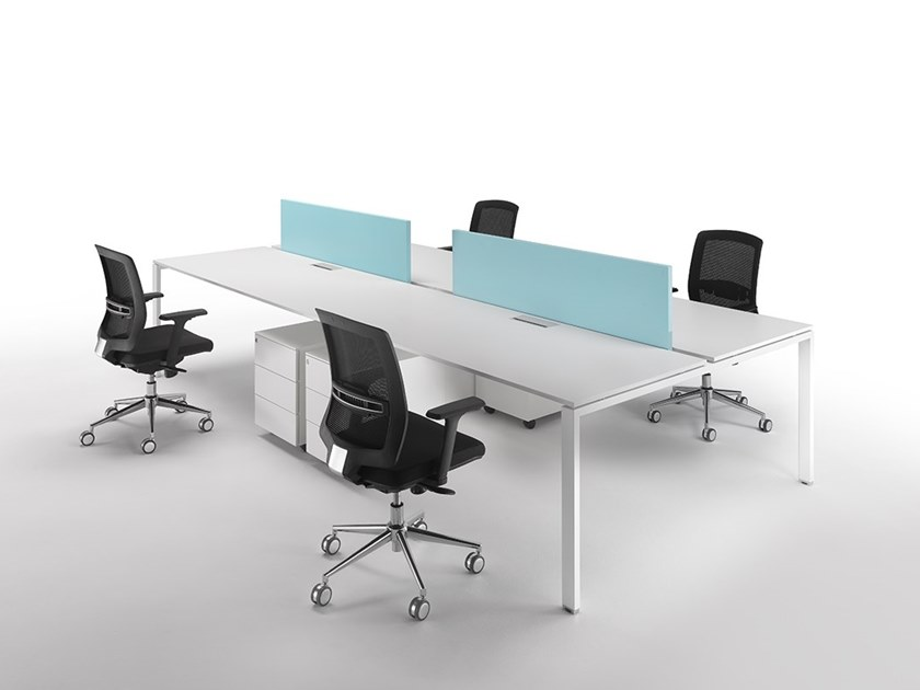 X Multiple Office Workstation X Collection By Ultom - Sectional conference table