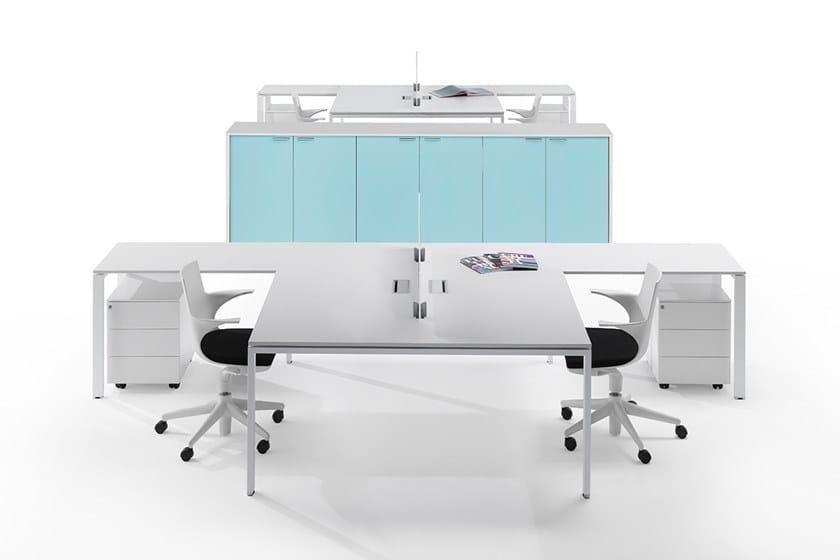 L-shaped sectional workstation desk 6X3 | Multiple office workstation by Ultom