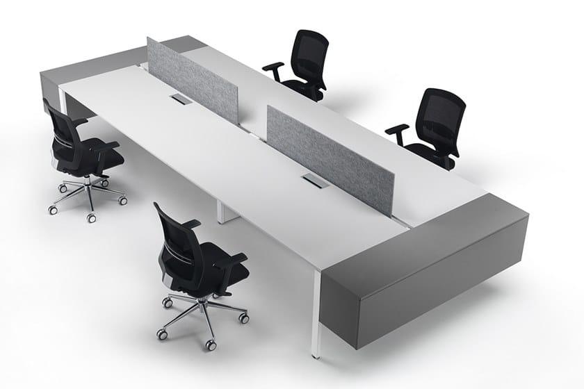 Sectional workstation desk with shelves 6X3 | Multiple office workstation by Ultom