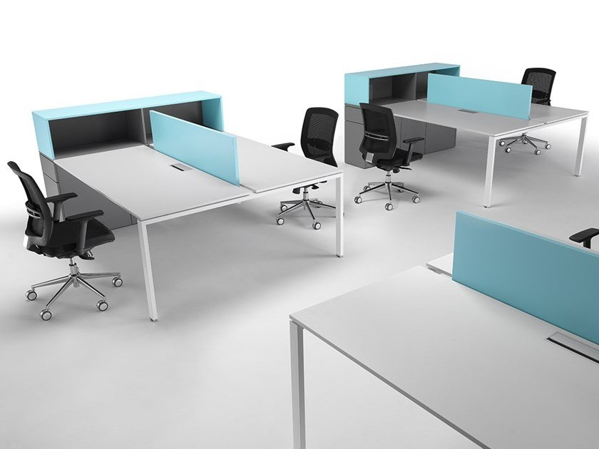 Sectional workstation desk with drawers 6X3   Office workstation for open space by Ultom