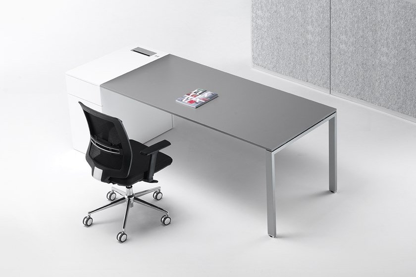 Rectangular melamine-faced chipboard workstation desk with drawers 6X3 | Workstation desk by Ultom