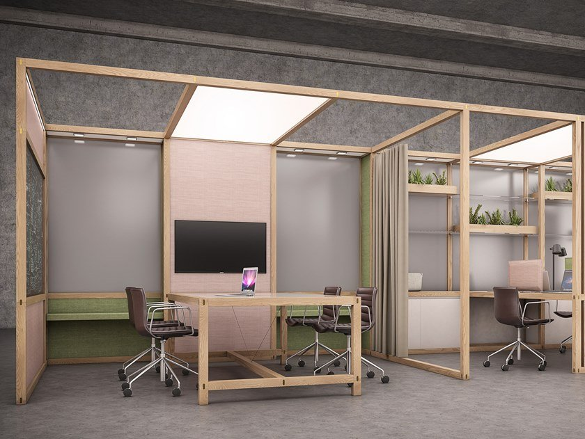 Multiple office workstation for open space 6x6 - OFFICE by 6x6