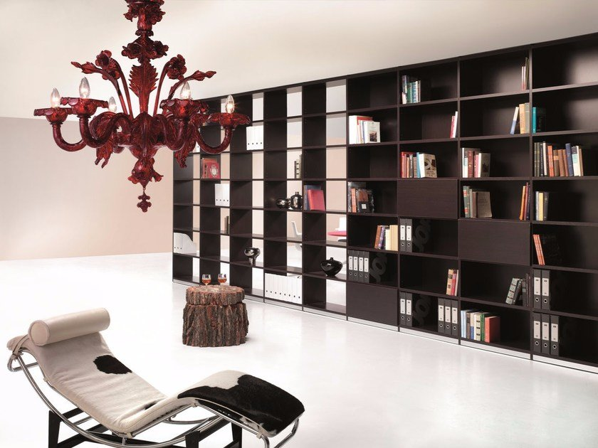 Freestanding lacquered bookcase 6XME ELASTOBOXES | Freestanding bookcase by Ultom