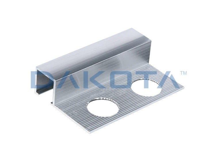 Aluminium Edge protector PROFILO ALLUMINIO TERMINALE LUCIDO by Dakota