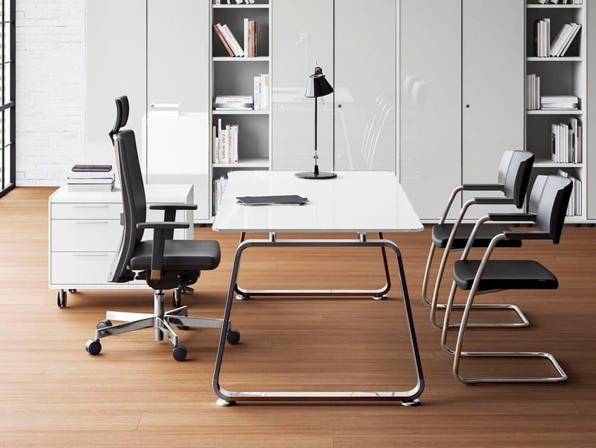 Rectangular executive desk 70'S SEVENTIES | Executive desk by Las Mobili