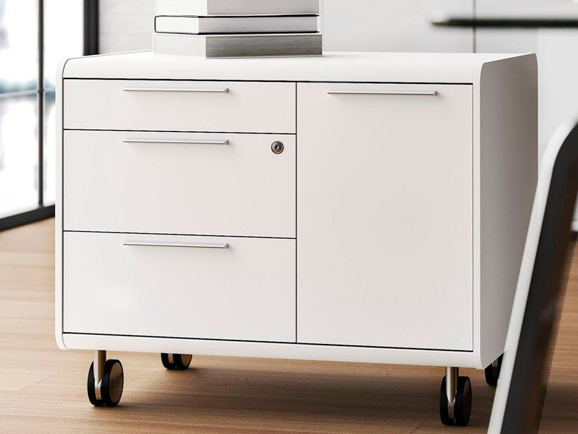 Office Drawer Unit With Casters 70u0027S SEVENTIES | Office Drawer Unit With  Casters By Las Mobili