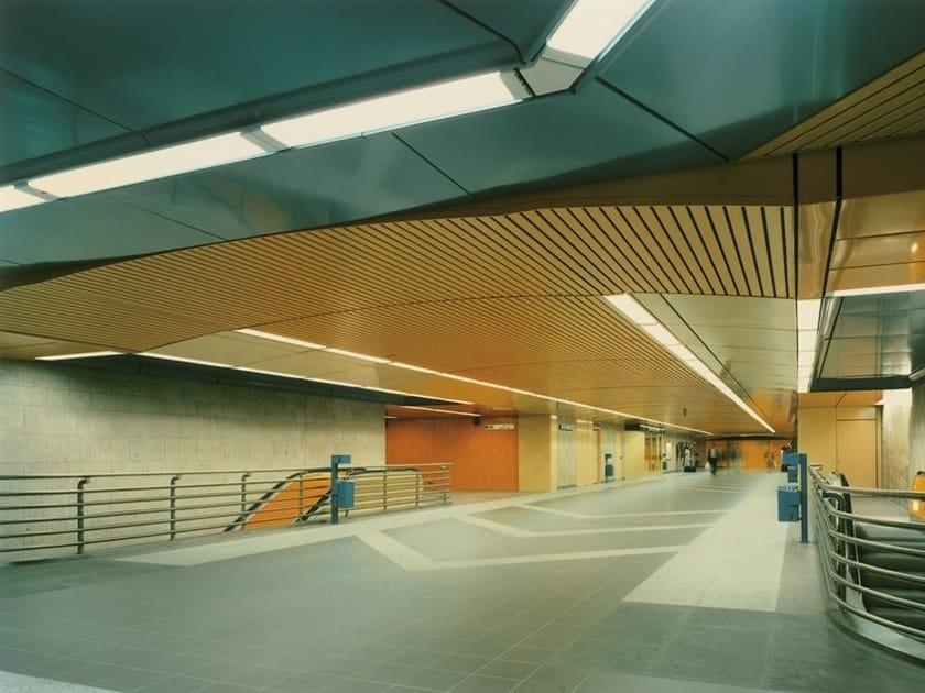 Acoustic Metal Ceiling Tiles 70u Linear By Hunterdouglas Architectural