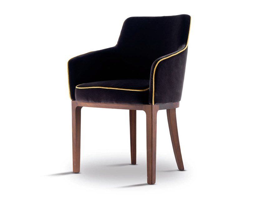 Fabric chair with armrests HARRIS - 712402 | Chair with armrests by Grilli