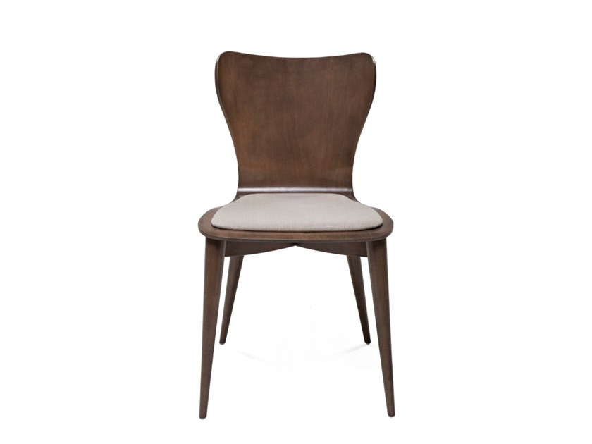 Contemporary style wooden chair with integrated cushion 7317 | Chair by BUYING & DESIGN