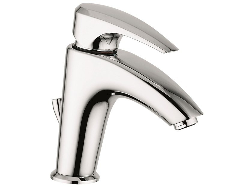 Countertop 1 hole brass washbasin mixer with automatic pop-up waste 75003 | Washbasin mixer with automatic pop-up waste by EMMEVI RUBINETTERIE