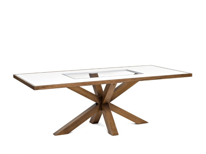 Rectangular wood and glass table 7717 | Table by BUYING & DESIGN