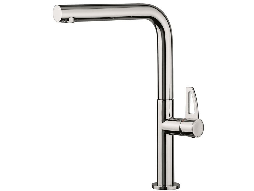 Countertop 1 hole brass kitchen mixer tap with swivel spout 78047LA | Kitchen mixer tap with swivel spout by EMMEVI RUBINETTERIE