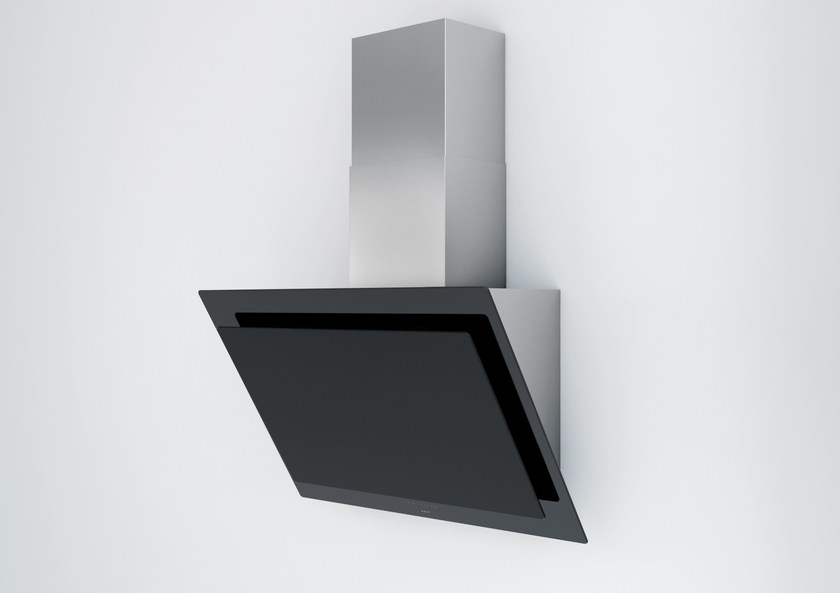 Contemporary style wall-mounted glass cooker hood 7830 Vision by NOVY