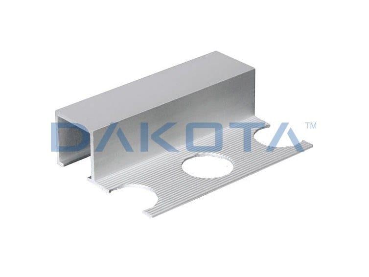 Aluminium Edge protector PROFILO ALLUMINIO TERMINALE SATINATO by Dakota