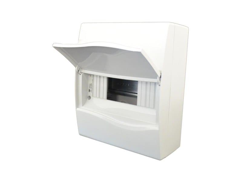 Plastic enclosure 8 MOD ENCLOSURE IP40 C/W OPAQUE WINDOW by Garo