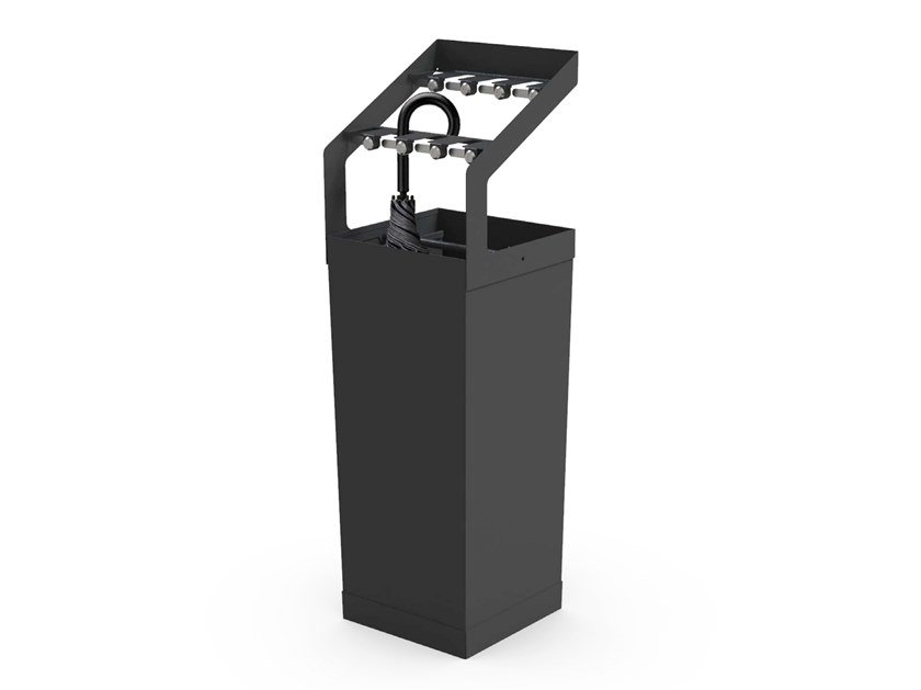 Steel umbrella stand with lock 8 places umbrella stand by Riuni