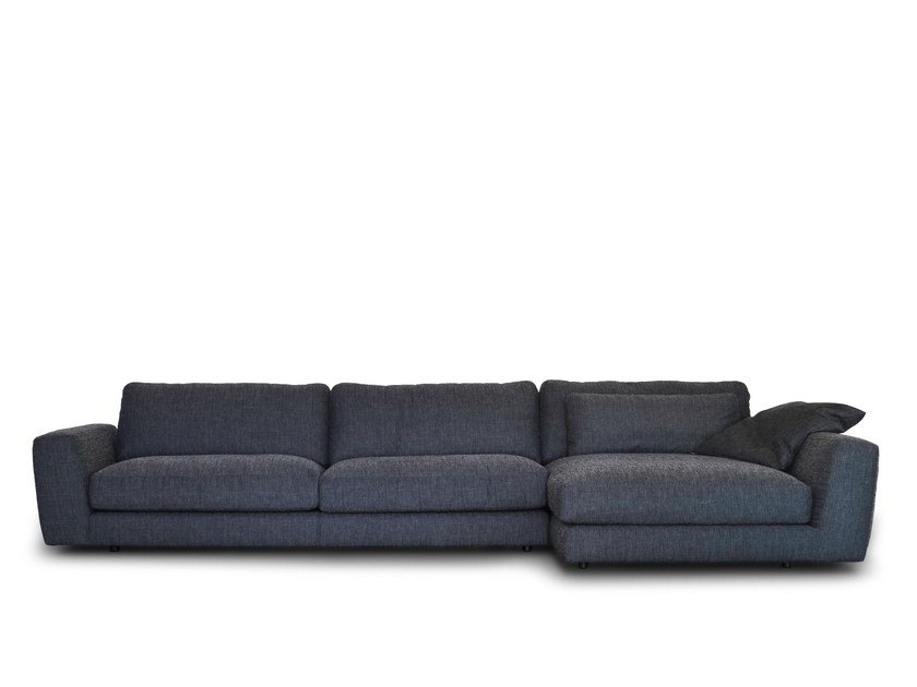 Fabric sofa with chaise longue 800 FASHION   Sofa with chaise longue by Vibieffe