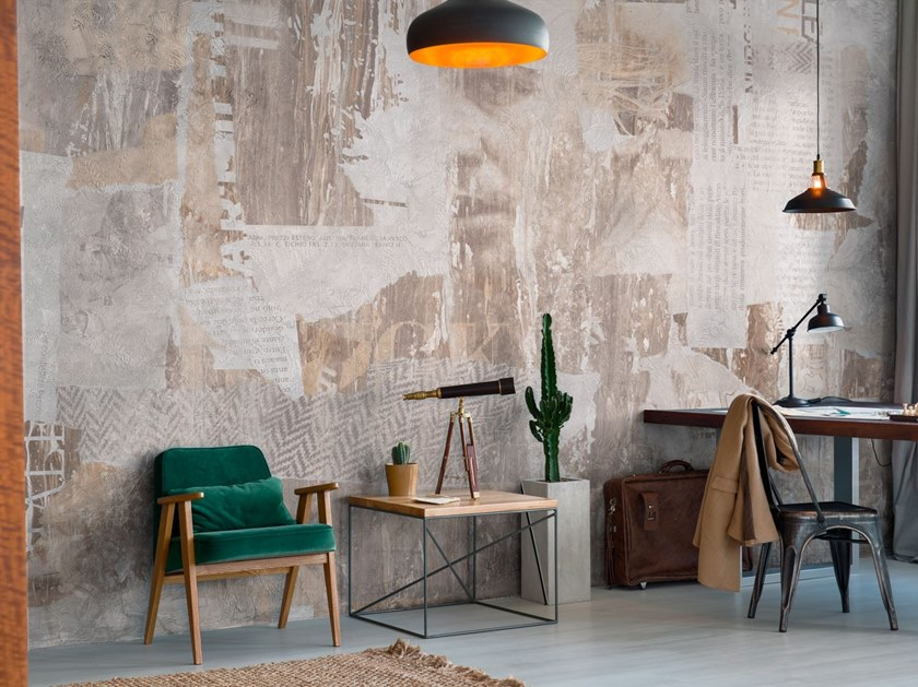 Contemporary style rubber fire retardant waterproof glass-fibre wallpaper '80S by Tecnografica Italian Wallcoverings