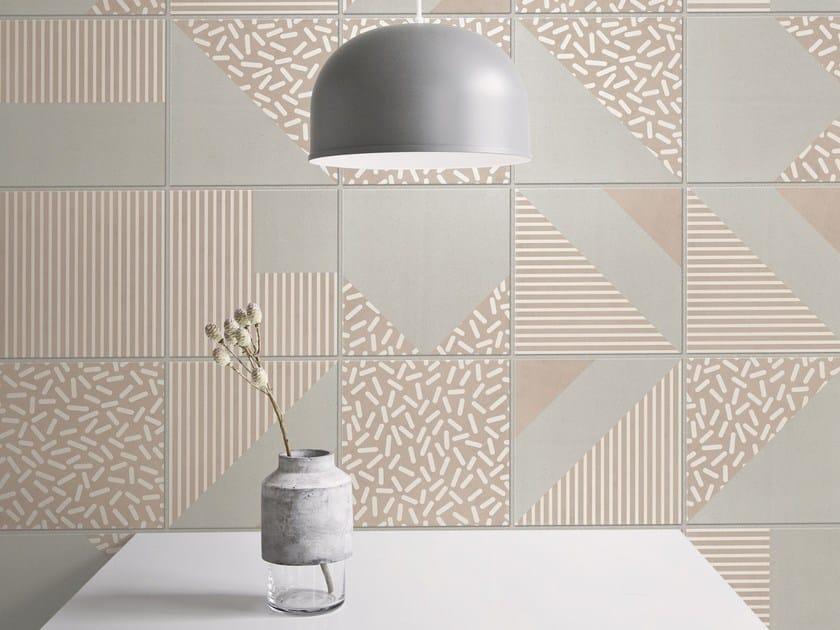 porcelain stoneware wallfloor tiles 80s warm family by ornamenta