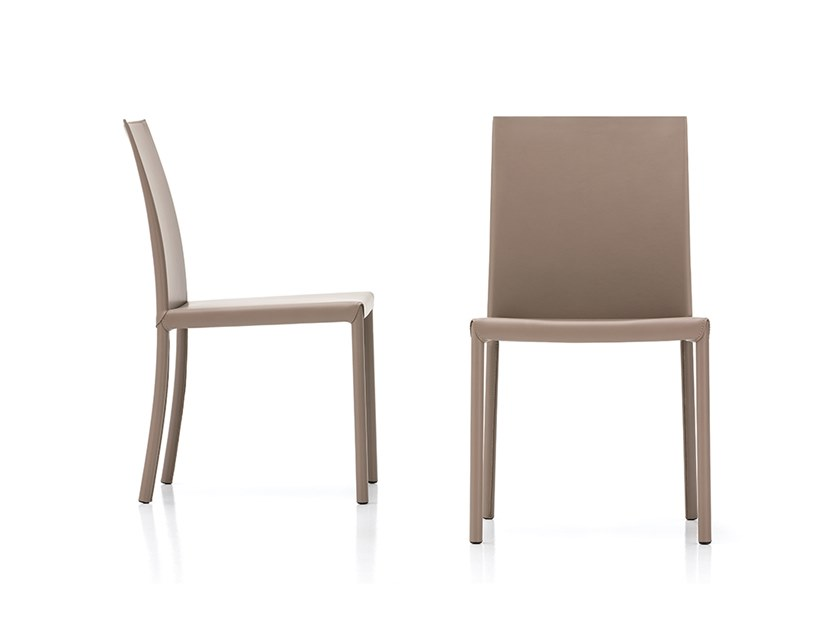 Tanned leather chair 814 | Chair by Polflex