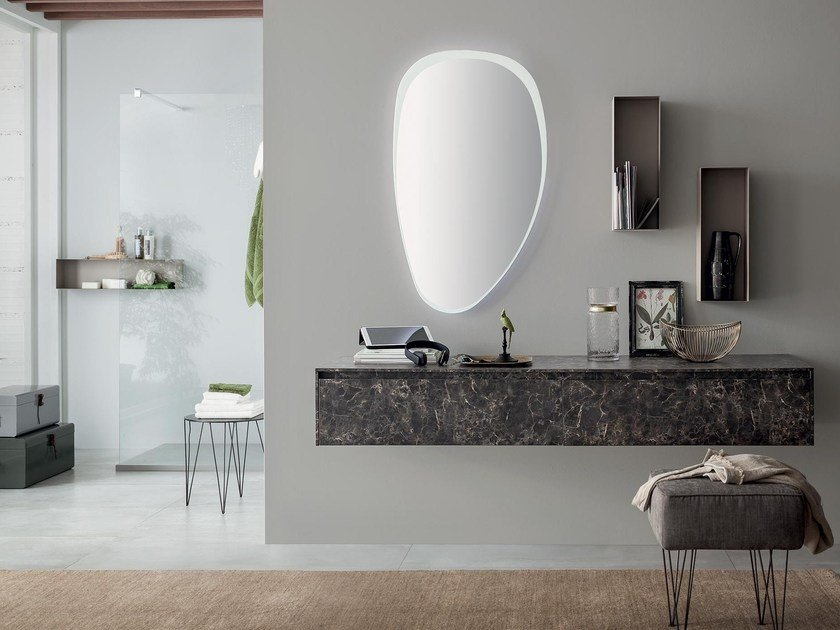Rab Arredo Bagno.Wall Mounted Vanity Unit With Mirror 82 3 0 By Rab