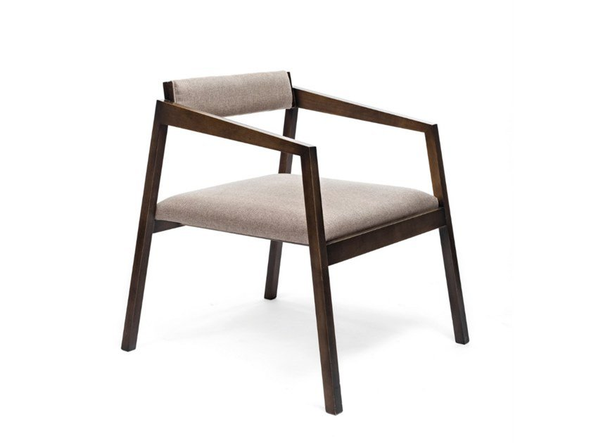 Wooden easy chair with armrests 8486 | Easy chair by BUYING & DESIGN