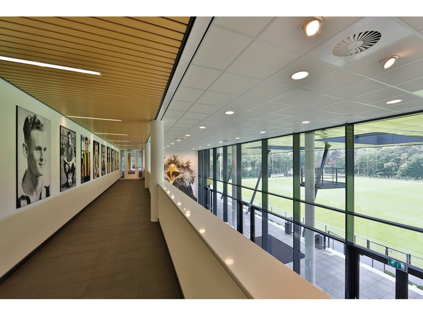 Metal ceiling tiles 84B LINEAR OPEN by HunterDouglas Architectural