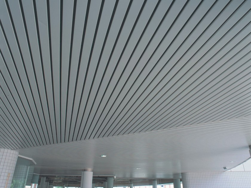 Metal Ceiling Tiles 84r Linear Open Exterior Metal Ceiling System