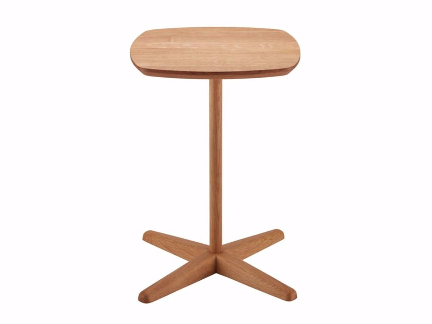 Square wooden coffee table 1860 by THONET