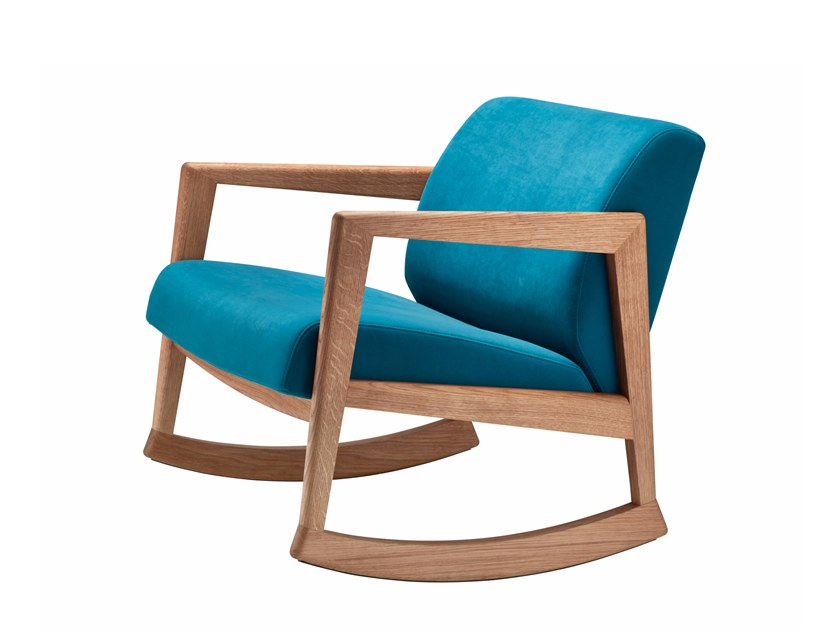 Rocking wooden armchair 866 F   Rocking armchair by THONET