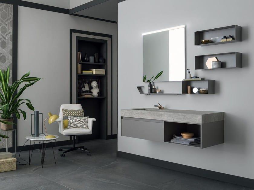 Mobile lavabo singolo sospeso 87 3 0 by rab arredobagno - Rab arredo bagno ...