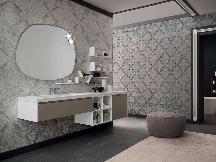 mobile lavabo singolo sospeso con specchio 90 - 3.0 by rab arredobagno - Arredo Bagno Rab