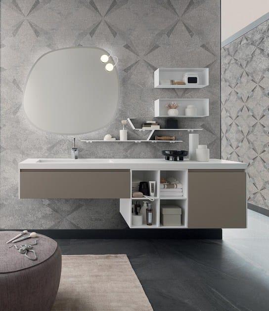 lavabo singolo sospeso con specchio 90 - 3.0 By RAB Arredobagno