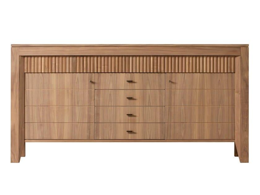 Walnut sideboard with doors SCACCHI   Walnut sideboard by Morelato