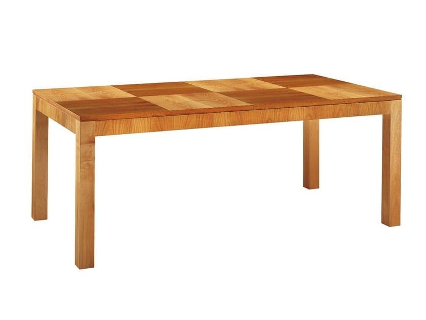 Extending rectangular cherry wood table '900 SCACCHI | Rectangular table by Morelato