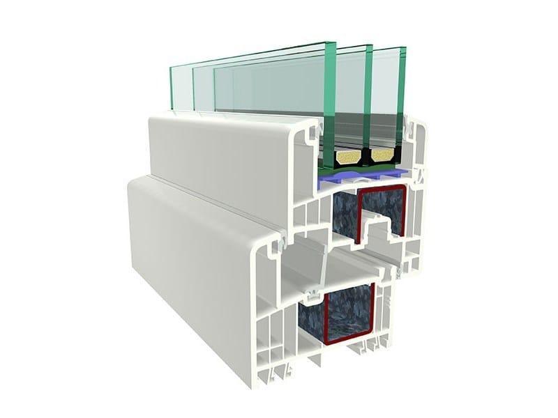 Finestra scorrevole in PVC con triplo vetro 9000 | Finestra scorrevole by PIVA GROUP
