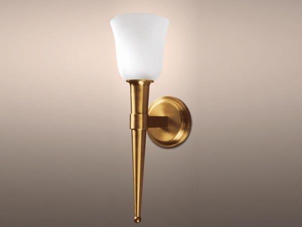 Applique a luce diretta in bronzo 909 BIS | Applique by Jean Perzel